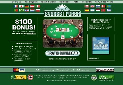 De Homepage van Everest Poker