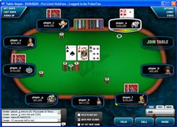 De pokerroom van Full Tilt Poker