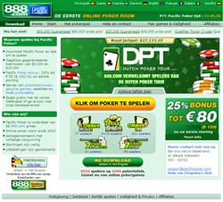 De Homepage van Pacific Poker