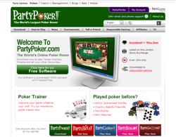 De Homepage van Party Poker