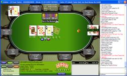 The pokertable of Unibet Poker